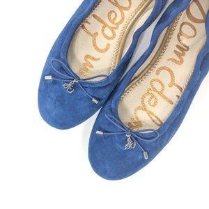 Sam Edelman Blue Suede Fiona Ballet Flats Size 6